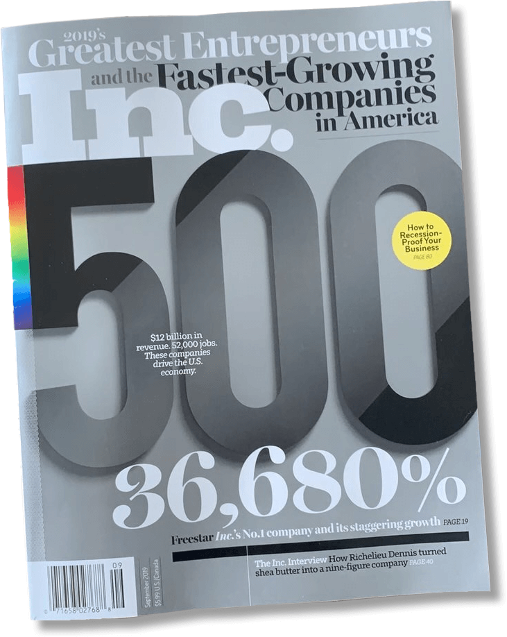 2019 Greatest Entrepreneurs and Fastest Growing Companies in America
